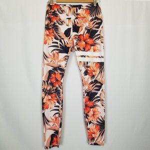 Stronger Tropical Floral Print Leggings Sz L